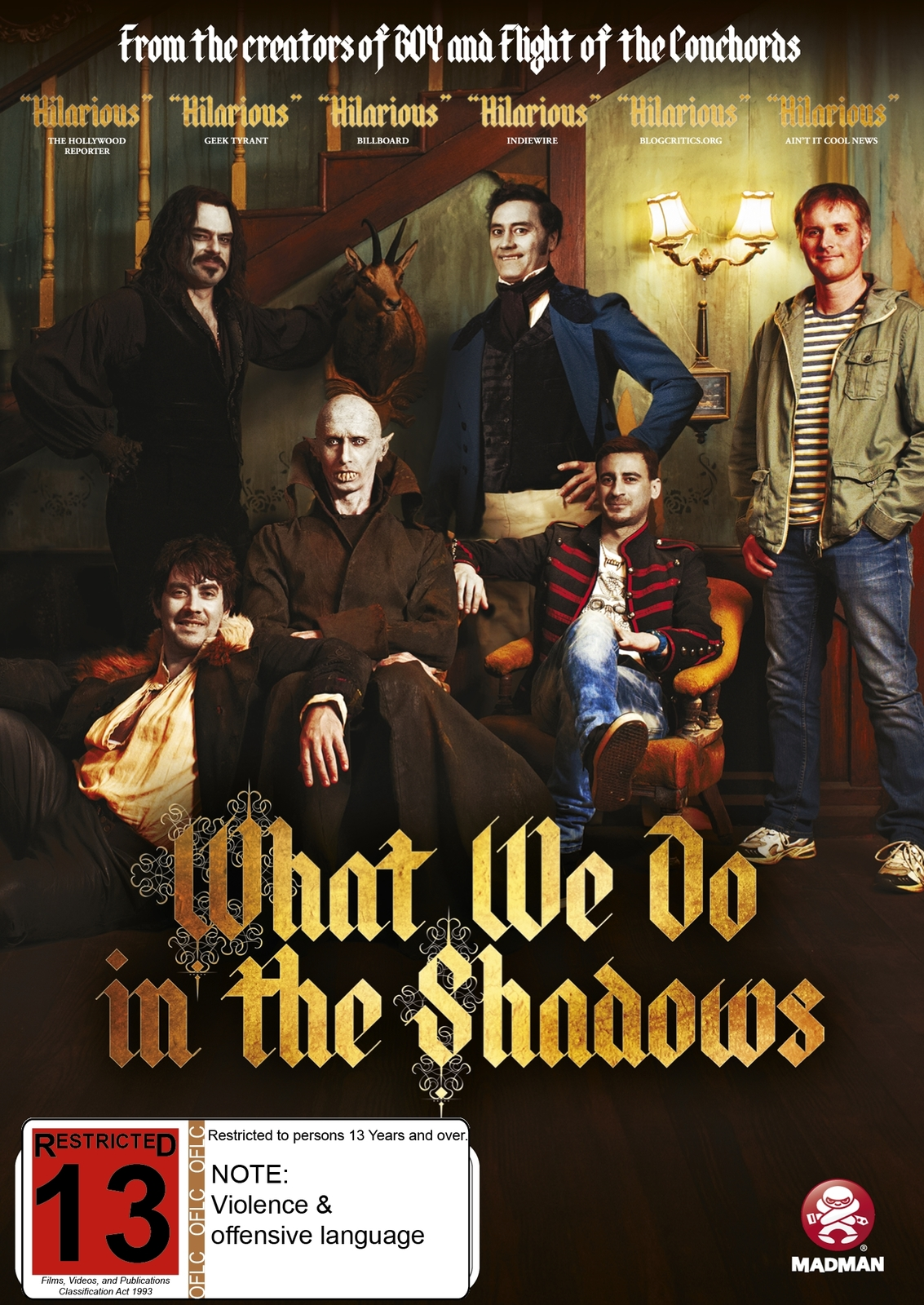 What We Do in the Shadows on DVD image