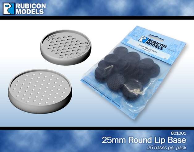 Rubicon 25mm Round Base (25 Pack)