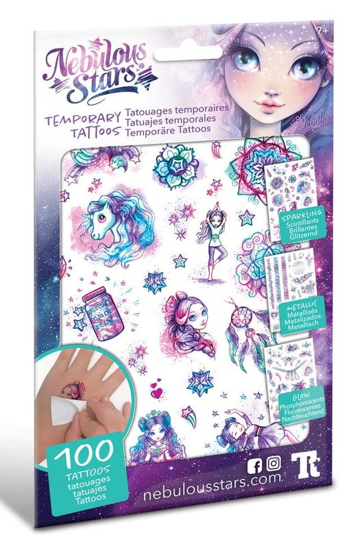 Nebulous Stars: Temporary Tattoos Pack - (Assorted Designs)