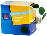 Avery Green 24mm Diameter Circle Dispenser Labels Pkt500