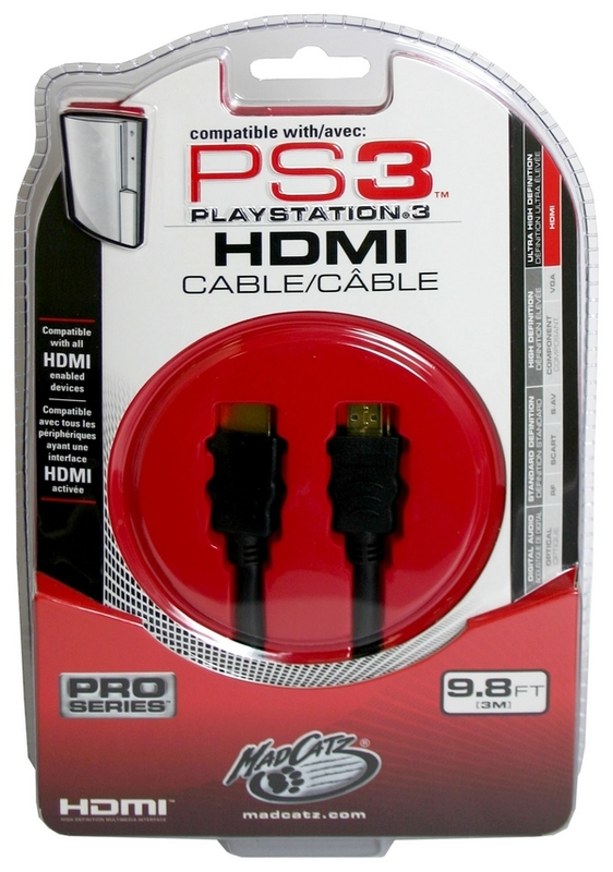 Mad Catz HDMI Cable for PS3
