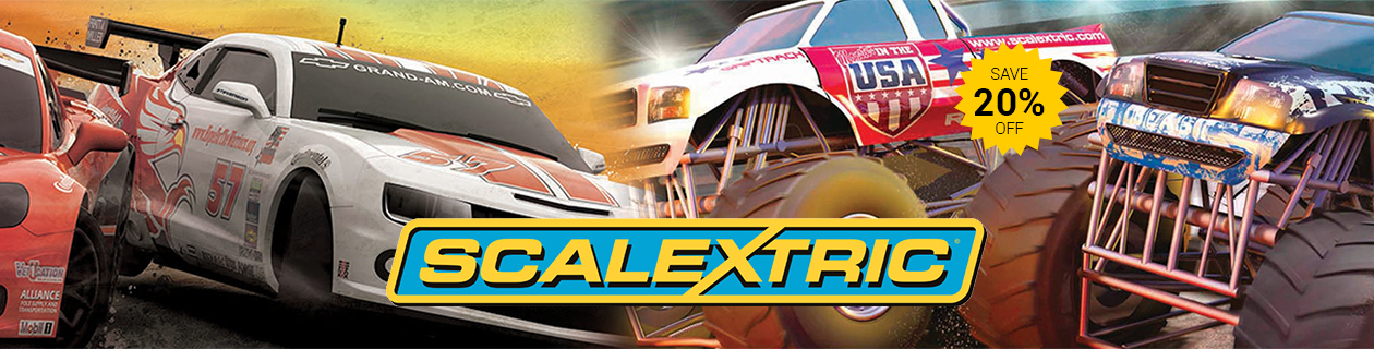 Save 20% off Scalextric Slot Cars!