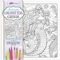 Artists' Colouring Canvas - Mesmerising Mermaid