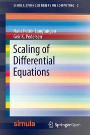 Scaling of Differential Equations by Hans Petter Langtangen
