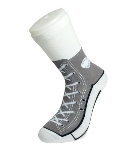 Silly Socks – Grey Sneakers image