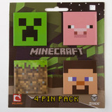 Minecraft Pin 4-Pack