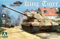 Takom: 1/35 German Heavy Tank King Tiger Porsche Turret Non-Zimmerit (Full Interior)