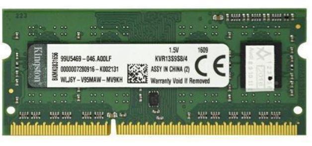 4GB Kingston 1333MHZ DDR3 NON-ECC CL9 SODIMM Single Rank X8
