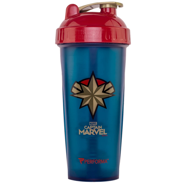 Performa: Marvel Protein Shaker - Captain Marvel (800ml)