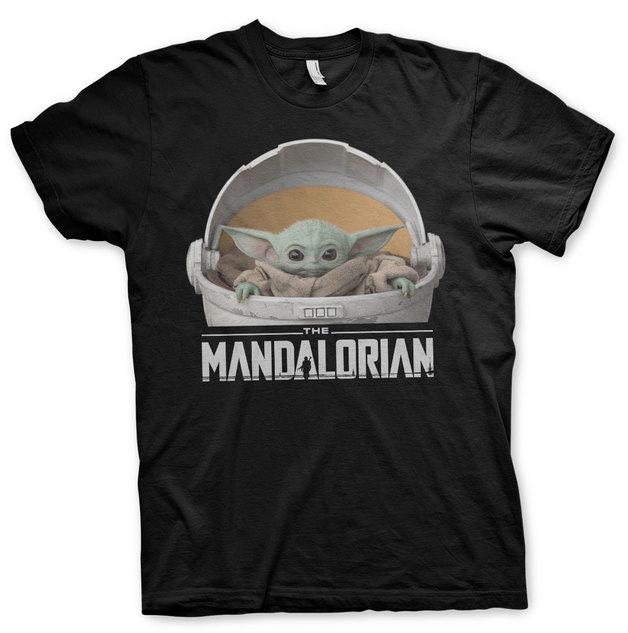 The Mandalorian: Baby Yoda Crib T-Shirt - Black (Large)