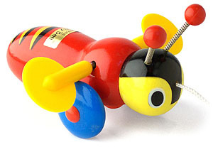 Buzzy Bee Pull Along Wooden Toy image