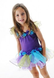 Fairy Girls - Forget Me Not Tutu Dress in Purple (Small, age 1-4)