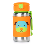 Skip Hop: Zoo Stainless Steel Straw Bottle - Dog