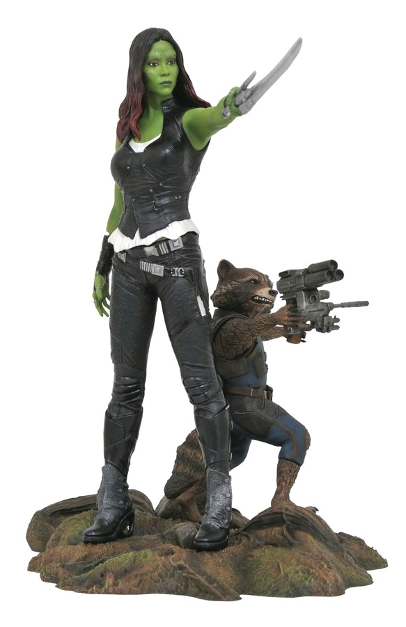 "Guardians of the Galaxy: Vol. 2: Gamora & Rocket - 11"" PVC Diorama image"