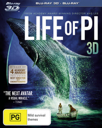 Life of Pi on Blu-ray, 3D Blu-ray