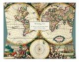 World Map Four Hemispheres - Writing Set