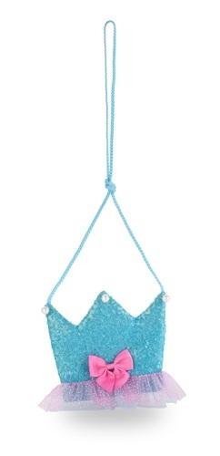 Pink Poppy: Forever Sparkle Crown Shoulder Bag - (Blue)