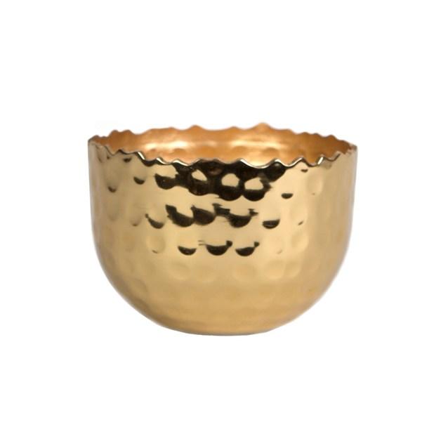 Hammered Brass Tealight Holder
