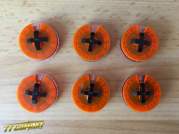 TTCombat: Small Wound Dials - (Lava Orange)