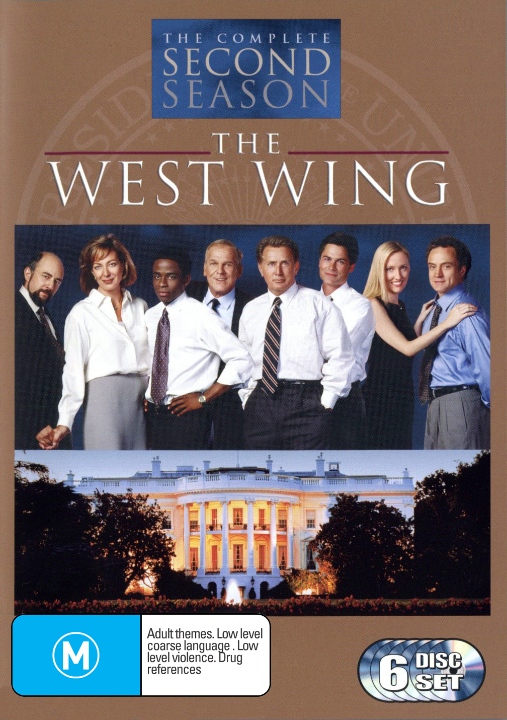 The West Wing - Complete Second Season (6 Disc Box Set) on DVD image