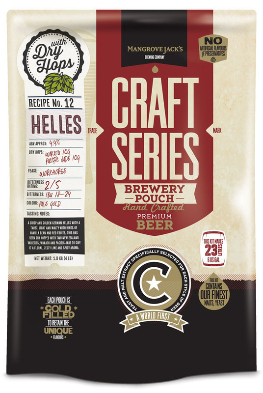 Mangrove Jack's: Craft Series - Helles Lager Pouch (1.8kg)