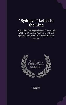 Sydney's Letter to the King by . Sydney image