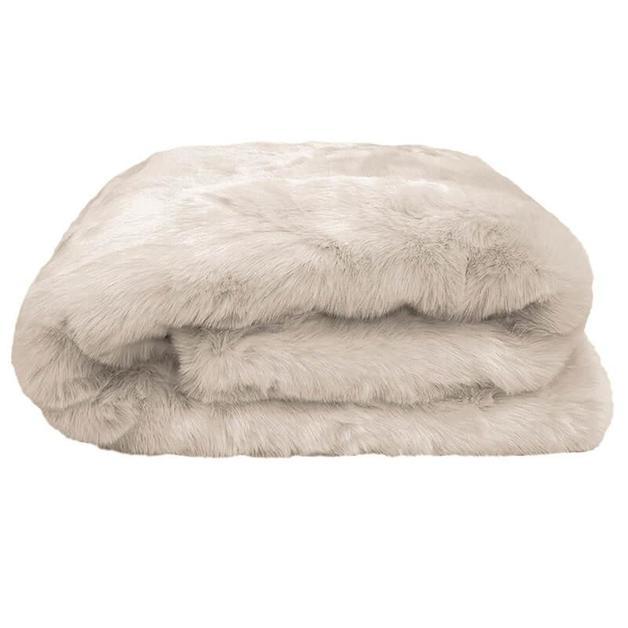 Bambury: Faux Fur Throw - Pebble (130 x 180cm)