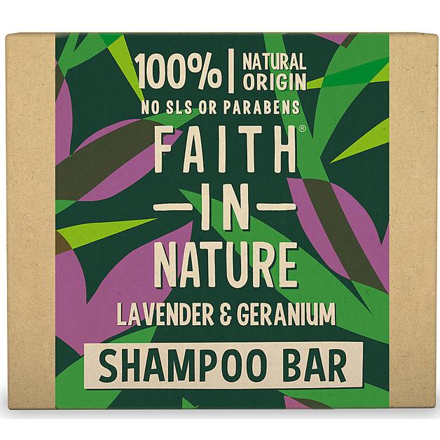 Faith In Nature: Lavender & Geranium Shampoo Bar (85g)