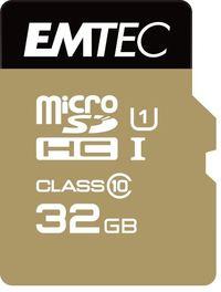 32GB Emtec Micro SD Card Gold+ (Class 10)