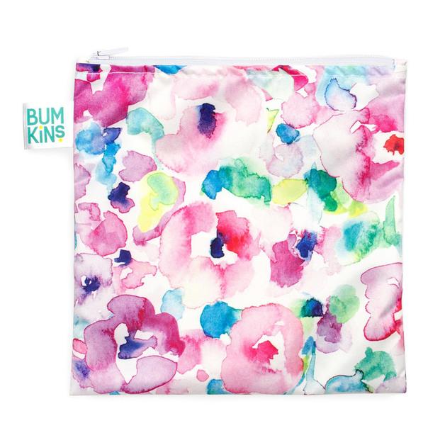 Bumkins: Large Snack Bag - Watercolour