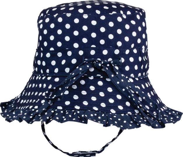 Black Ice: Polka Navy Bucket Cap - (4-8 Years)