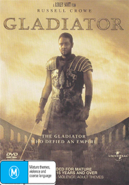 Gladiator (Russell Crowe) on DVD image