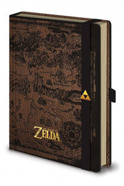 Legend of Zelda: A5 Premium Notebook - Hyrule Map