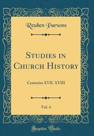 Studies in Church History, Vol. 4 by Reuben Parsons image