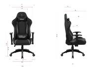 Gorilla Gaming Commander Chair - Orange & Black for