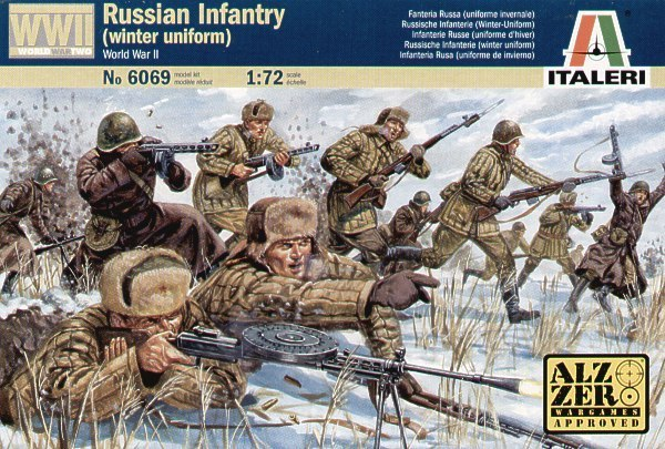 Italeri Russian Infantry Winter (WWII) 1:72 Model Kit