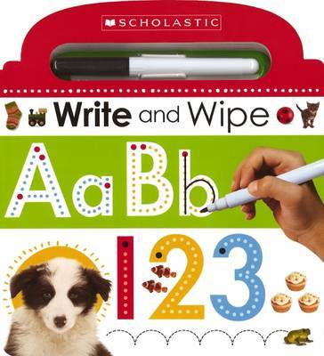 Write and Wipe ABC 123 by Scholastic