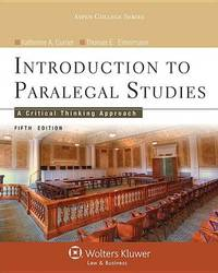 Introduction to Paralegal Studies by Currier