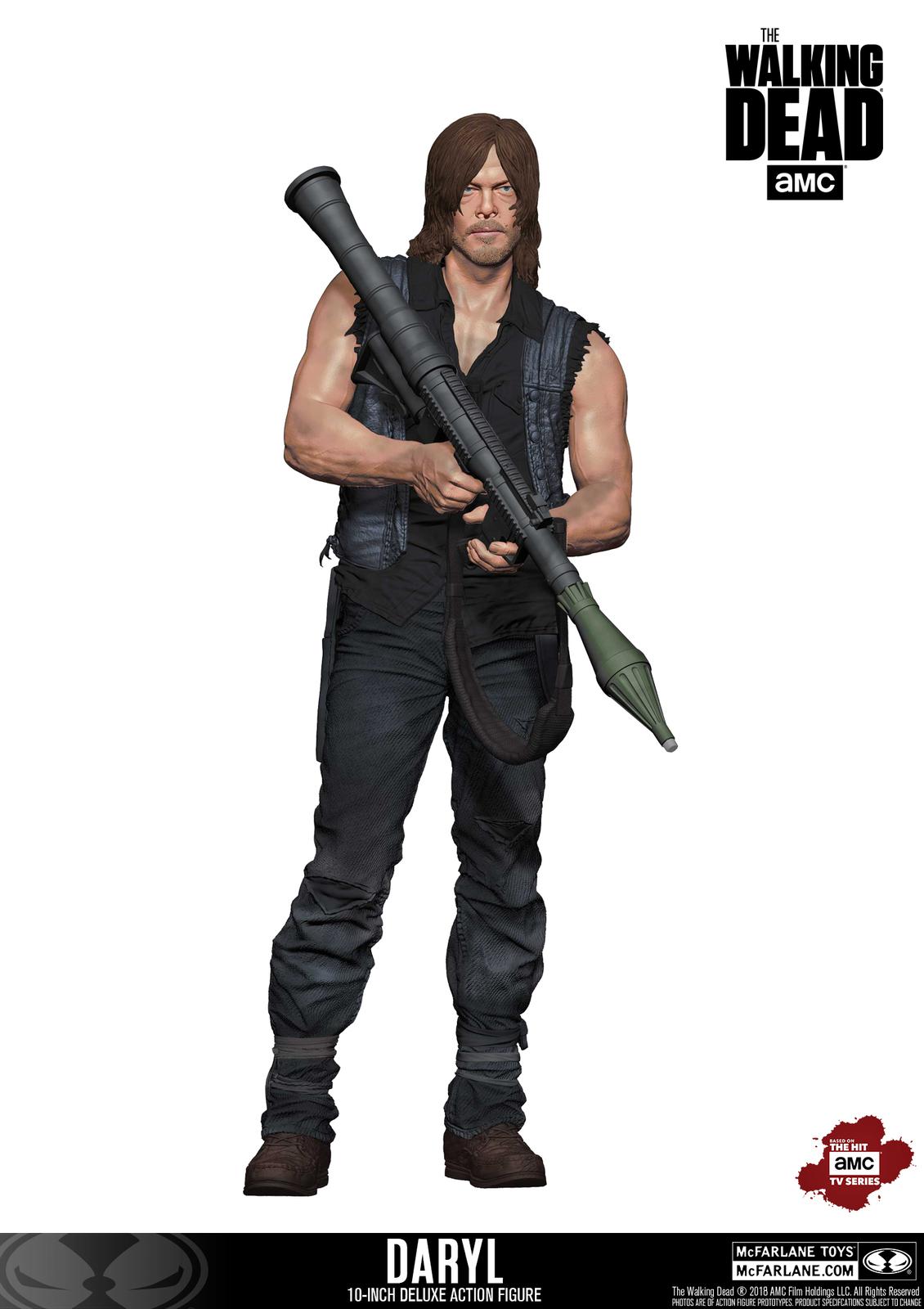 """The Walking Dead: Daryl Dixon (Rocket Launcher) - 10"""" Deluxe Figure image"""
