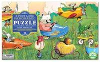 eeBoo: 36-Piece Puzzle - Busy Vehicles