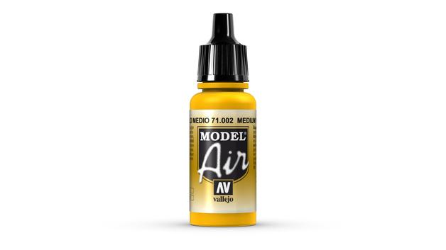 Vallejo Model Air Medium Yellow Acrylic Paint 17ml