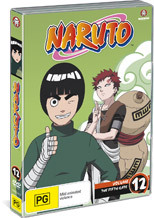 Naruto (Uncut) - Vol. 12: The Fifth Gate on DVD
