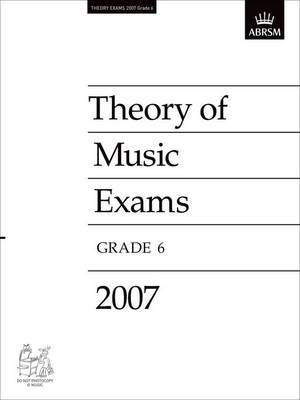 Theory of Music Exams: 2007: Grade 6 image