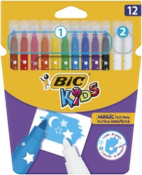 Bic: Kids Markers & Colour Erase (Pack of 12)