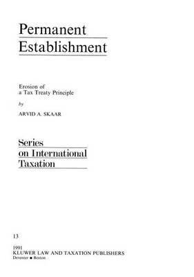 Permanent Establishment by Arvid S. Skaar