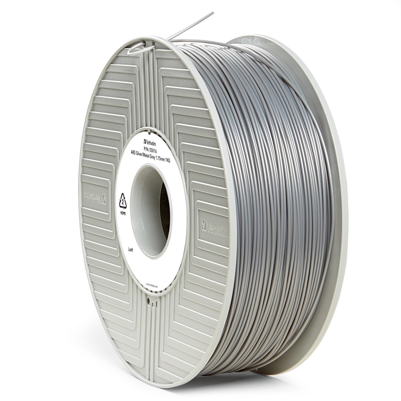 Verbatim 3D Printer ABS 1.75mm Filament - 1kg (Silver/Metal Grey) image
