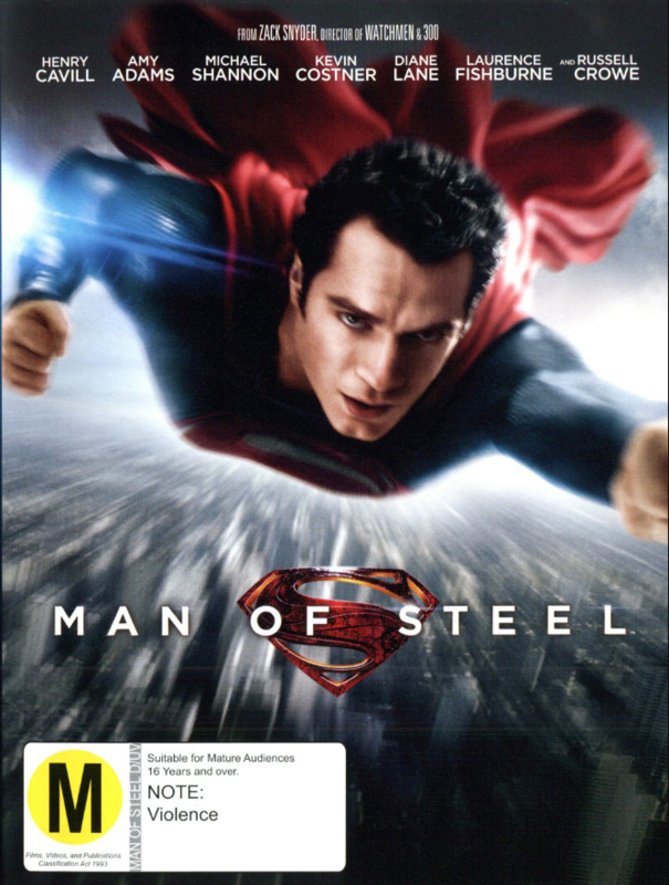 Man of Steel on DVD