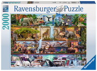 Ravensburger : Wild Kingdom Puzzle 2000pc