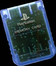 1 Meg PSX Memory Card -Transparent Blue