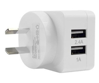3SIXT Dual USB AC Charger AU 3.4A - White